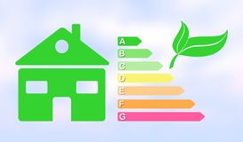 Concept of home energy efficiency royalty free illustration