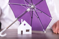 Concept of home insurance Royalty Free Stock Photo