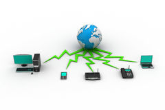 Concept of home network Stock Images