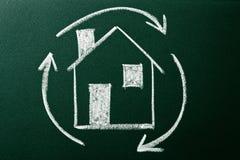 Concept of Home recycling Stock Photos