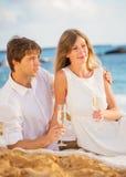 Concept, homme et femme de lune de miel dans l'amour Images libres de droits