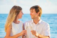 Concept, homme et femme de lune de miel dans l'amour Photo libre de droits