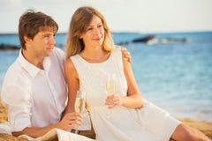 Concept, homme et femme de lune de miel dans l'amour Image libre de droits