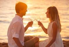 Concept, homme et femme de lune de miel dans l'amour Photographie stock libre de droits