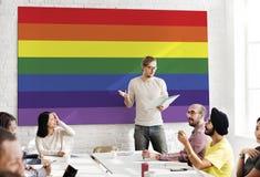 Concept homosexuel gratuit d'amour de symbole d'arc-en-ciel Image libre de droits