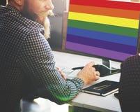 Concept homosexuel gratuit d'amour de symbole d'arc-en-ciel Images stock