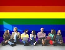 Concept homosexuel gratuit d'amour de symbole d'arc-en-ciel Photos libres de droits