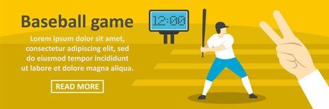 Concept horizontal de bannière de jeu de baseball Photos libres de droits