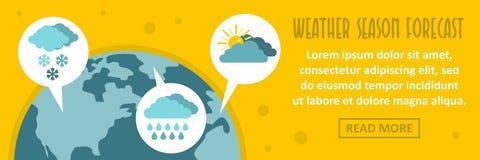 Concept horizontal de bannière de prévision de saison de temps illustration de vecteur