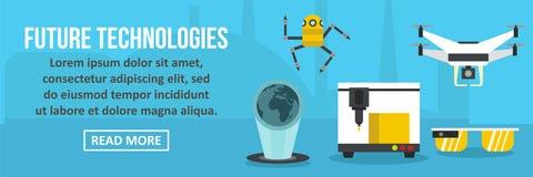 Concept horizontal de future bannière de technologies illustration libre de droits