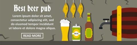Concept horizontal de la meilleure de bière bannière de bar Photos libres de droits