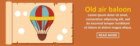 Concept horizontal de vieille bannière de ballon à air Photographie stock libre de droits