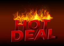 Concept of hot deal design Royalty Free Stock Photography