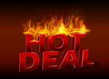 Concept of hot deal design. Illustration of Concept of hot deal design Royalty Free Stock Photography