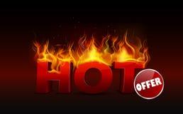 Concept of hot offer design. Illustration of Concept of hot offer design Royalty Free Stock Photos