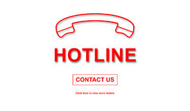 Concept of hotline Royalty Free Stock Photography