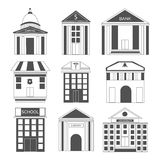 Concept of house and building icons. Royalty Free Stock Photos