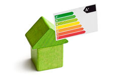 Concept of the house energy saving Stock Photos