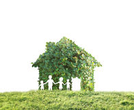 Concept by house on nature Stock Photo