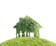 Concept by house on nature Royalty Free Stock Photography
