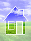 Concept house on nature Royalty Free Stock Image