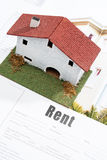 Concept house renting. Royalty Free Stock Images