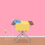 Concept of house work with ironing board and Royalty Free Stock Photos