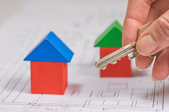 The concept of housing affordability Stock Photo