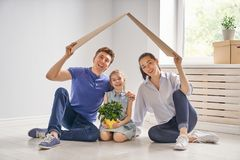 Concept of housing for family Royalty Free Stock Photos