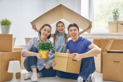 Concept of housing for family Royalty Free Stock Images