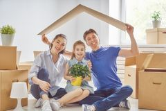 Concept of housing for family Royalty Free Stock Photography