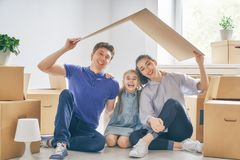 Concept of housing for family Stock Photos