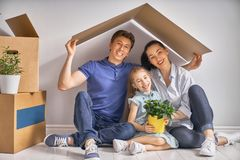 Concept of housing for family Stock Image
