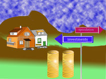 Concept of housing market Royalty Free Stock Image