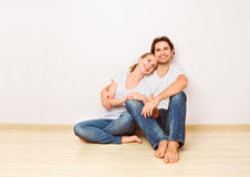 Concept:  housing and mortgage for young families. couple on emp Stock Images