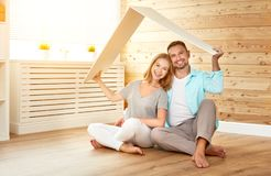 Ept housing a young family. couple in  new home Stock Images