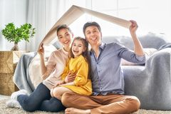 Concept of housing for young family. Royalty Free Stock Images