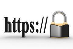 Concept of HTTPS secure connection sign in browser address Royalty Free Stock Photos