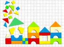 Concept Huis onvolledig mozaïek stock afbeelding