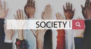 Concept humain de main de la Communauté de diversité de connexion de société photo libre de droits