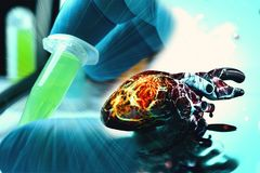 Concept humain de santé et de maladie de foyer d'anatomie de coeur Photographie stock