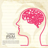 Concept of human brain infographic. Royalty Free Stock Photos