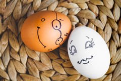Free Concept Human Relationships And Emotions Eggs - Flirtation Royalty Free Stock Photo - 82893415