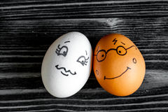 Concept human relationships and emotions eggs - romance Royalty Free Stock Photo