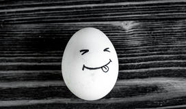 Concept human relationships and emotions eggs - smile Royalty Free Stock Photo