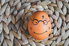Concept human relationships and emotions eggs - smile Royalty Free Stock Photos