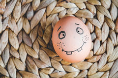 Concept human relationships and emotions eggs - smile Royalty Free Stock Photography