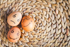 Concept human relationships and emotions eggs - support Stock Images