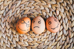 Concept human relationships and emotions eggs - support Stock Photo