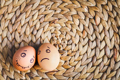 Concept human relationships and emotions eggs - support Stock Photography